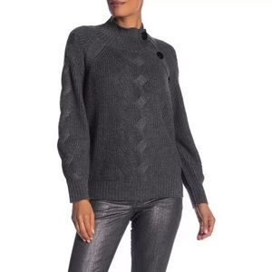 Laundry by Shelli Segal Mock Chunky Knit Sweater